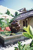 Spa area, wellness with fountain, Hotel Le Prince Maurice, Holiday, Accomodation, Mauritius, Africa