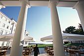 Terrace of the restaurant at Kempinski Grandhotel, Heiligendamm, Mecklenburg Western Pomerania, Germany