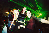 Young girls, women, celebrating, dancing in Les Bains Douche, Disco, Nightlife, Paris, France