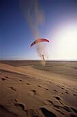 Landkiting in Namib Desert, Walvis Bay, Erongo, Namibia