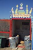 Recycling station in Sausalito, San Francisco, California, US