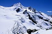 Peak of Weisskugel above glacier, Oetztal range, Tyrol, Austria
