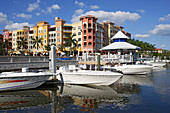 Housing development and marina in Naples, Florida, USA