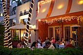 Dining in Pazzo Restaurant on 5th Avenue, Naples, Florida, USA