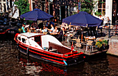 Open air cafe on Herengracht, The Netherlands, Holland, Amsterdam