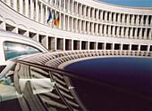 The Italian National Institute for Social Security, with reflection, Istituto Nazionale Della Previdenza Sociale Direzione Generale, Rome, Italy