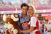 Couple enjoying fun fair