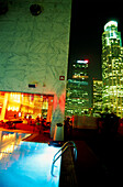 Pool Area Rooftop Bar, Hotel The Standard, Downtown L.A., Los Angeles, California, USA