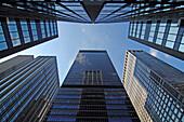 Sky scrapers on 7th Avenue, New York City, New York, USA