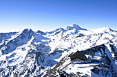 Panorama with Glacier Cable Car and Upper Station, Schnalstal, South Tyrol, Italy