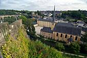 High Angle View at the church Neumuenster Abbey, Luxemburg
