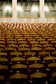 Empty theater seats, Prinzregententheater, Munich, Bavaria, Germany