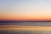 Sundown, Norddeich, East Frisia, North Sea, Lower Saxony, Germany