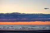 Sundown, Spiekeroog, East Frisia, North Sea, Lower Saxony, Germany