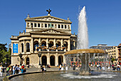 Old Opera House and fountain, Frankfurt am Main, Hesse, Germany