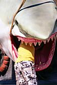 Jaws impression at Universal Studios, Universal City, L.A., Los Angeles, California, USA