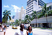 Street Impression on Collins Avenue, South Beach, Miami, Florida, USA