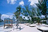 Private Beach, Hotel Mandarin Oriental Miami, Downtown, Miami, Florida, USA