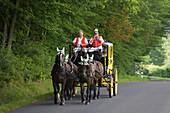 Postkutsche Post Horse Carriage, Near Bad Kissingen, Rhoen, Bavaria, Germany