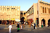 People shopping, Traditional Souk in Doha, Qatar
