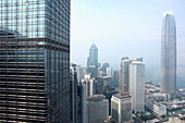 View of skycrapers and the International Financial Centre, Cityscape, Hong Kong, China