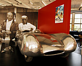 Exhibition at the Automobile World Museum, racing car from GDR, Eisenach, Thuringia, Germany