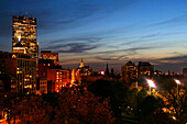 Stadtansicht von Boston, Boston Common and Back Bay, Boston, Massachusetts, USA