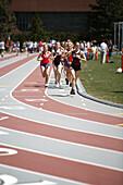 Track and field event, Track meet, MIT, Cambridge, Massachusetts, USA