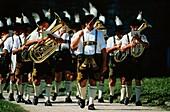 Traditional brass band, Fraueninsel, Chiemsee Lake, Bavaria