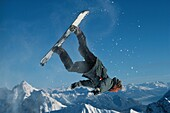 Snowboarding, Zugspitze, Bayaria, Germany