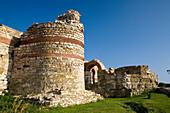 Ancient western fortification wall, Nesebar, Black Sea, Bulgaria
