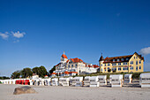 Beach, Promenade, Kuehlungsborn, Baltic Sea, Mecklenburg-Western Pomerania, Germany
