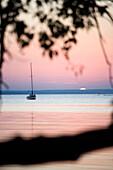Sunset over Baltic Sea, Lieper Winkel, Usedom island, Mecklenburg-Western Pomerania, Germany