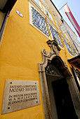 Birthplace of Wolfgang Amadeus Mozart, Getreidegasse, Salzburg, Salzburg state, Austria