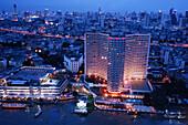 Skyline of Bangkok in the evening light, Thailand, Asia