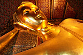 Lying Buddha at Pranon Wat Pho, The Temple of the Reclining Buddha, Bangkok, Thailand, Asia