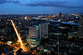 Skyline of Bangkok at night, Thailand, Asia