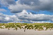 Flying Kites on Henne Strand Beach, Henne Strand, Central Jutland, Denmark