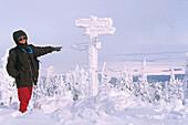 Verschneiter Wanderweg zum Brockengipfel, Brocken, Brockengipfel, Schnee, verschneit, Wintersport, Ski, Langlauf, Harz, Schierke, Sachsen-Anhalt