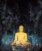 Sokkuram buddha (UNESCO world heritage), Geongju (Kyongju) , Geongju, South Korea, Asia
