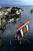 Outrigger in Rio Hondo, Zamboanga, Zamboanga, Mindanao Island, Philippines