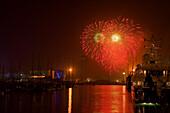 fireworks, Festa de la Merce, city festival, September, Port Vell, Ciutat Vella, Barceloneta, Barcelona, Spain