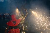 Correfoc, fireworks, Festa de la Merce, city festival, September, Barri Gotic, Ciutat Vella, Barcelona, Spain