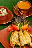 Thai Food, Fish Satay sticks, Hotel Rayavadee, Hat Phra Nang, Krabi, Thailand
