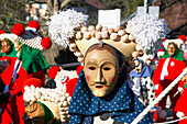 Traditional Carnival Kostume of Black Forest, Elzach, Black Forest, Baden Wuerttemberg,  Germany