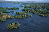 Aerial Photo of Las Isletas, Archipelago near Granada, Lake Nicaragua, Nicaragua, Central America