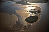 Aerial Photo, Delta of Rio Parana, Estuary in the Rio de la Plata, Buenos Aires, Argentina, South America