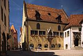 Mittelalterliches Rathaus im gotischen Baustil, Regensburg, Oberpfalz, Bayern, Deutschland