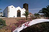 Parish Church, Belfry build fromsolidified Lava, La Oliva, Fuerteventura, Canary Islands, Spain