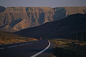 Street leading to the Mountain Atalaya de Pozo Negro, Fuerteventura, Canary Islands, Spain